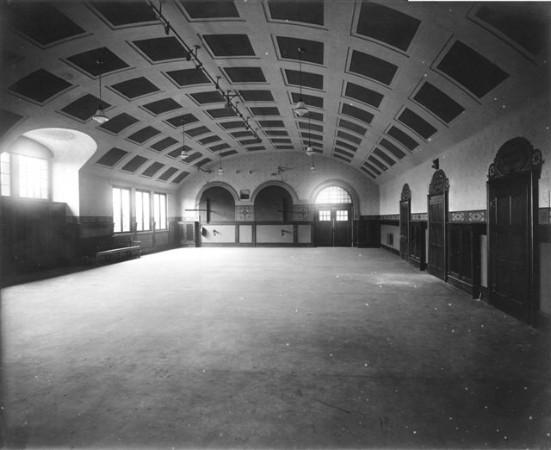 Ursprüngliches Aussehen der Turnhalle