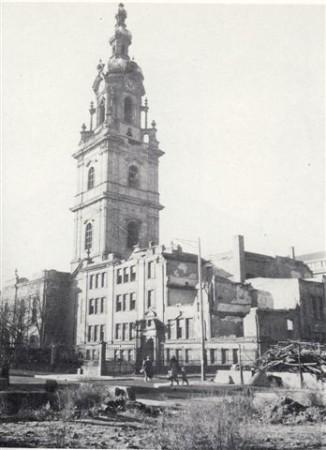 Das im Zweiten Weltkrieg zerstörte Schulhaus R 2